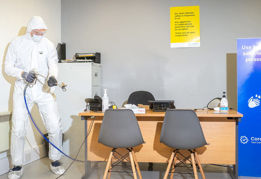 Fluid Hygiene COVID Test Centre Cleaning